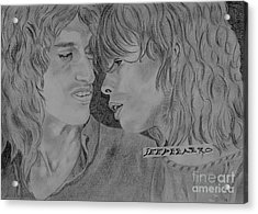 Steven Tyler And Joe Perry Image Pictures Acrylic Print by Jeepee Aero