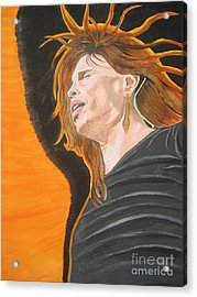 Acrylic Print featuring the painting Steven Tyler Art Painting by Jeepee Aero