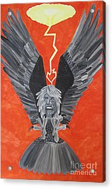 Acrylic Print featuring the painting Steven Tyler As An Eagle by Jeepee Aero