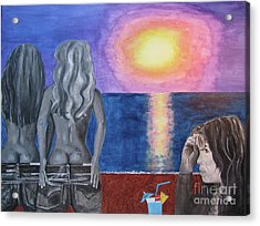 Steven Tyler At Sunset Acrylic Print by Jeepee Aero