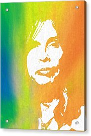 Steven Tyler Canvas Acrylic Print by Dan Sproul