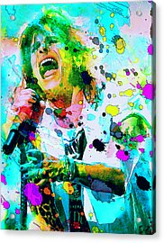 Steven Tyler Acrylic Print by Rosalina Atanasova