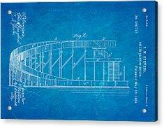 Stevens Roller Coaster Patent Art  2 1884 Blueprint Acrylic Print by Ian Monk