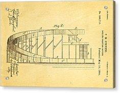 Stevens Roller Coaster Patent Art  2 1884 Acrylic Print by Ian Monk