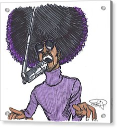 Stevie Afro Acrylic Print by SKIP Smith