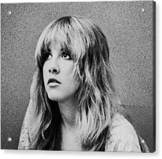 Stevie Nicks Bw Acrylic Print