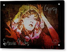 Stevie Nicks - Gypsy Acrylic Print