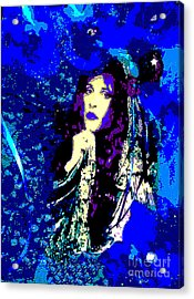 Stevie Nicks In Blue Acrylic Print