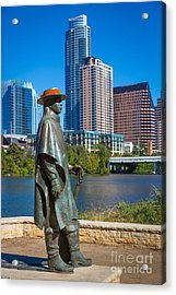 Stevie Ray Vaughan Acrylic Print by Inge Johnsson
