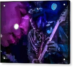 Stevie Ray Vaughan - Lenny  Acrylic Print by Glenn Feron