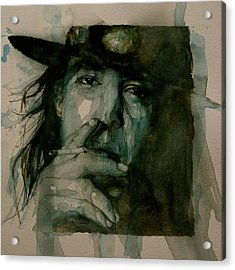 Stevie Ray Vaughan Acrylic Print by Paul Lovering