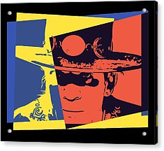 Stevie Ray Vaughan Pop Art Acrylic Print by Dan Sproul
