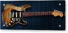 Stevie Ray Vaughan Stratocaster Acrylic Print