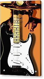 Stevie Ray Vaughan Acrylic Print by Larry Butterworth