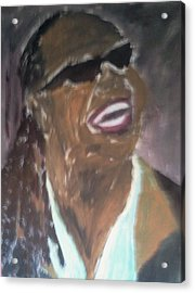 Acrylic Print featuring the painting Stevie Wonder 1 by Christy Saunders Church