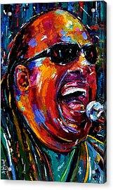 Stevie Wonder Acrylic Print by Debra Hurd