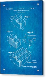 Stewart Integrated Circuit Patent Art 1964 Blueprint Acrylic Print by Ian Monk