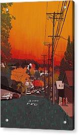 Stewart Street Acrylic Print by Phil Vance