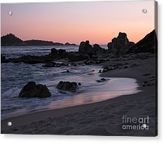 Stewart's Cove At Sunset Acrylic Print by James B Toy