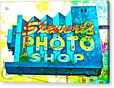 Stewart's Photo Shop Acrylic Print by Gail Lawnicki