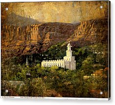 St.george Temple Red Hills Antiique Acrylic Print