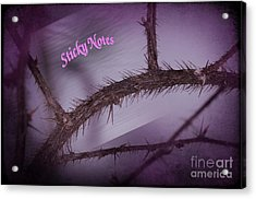 Sticky Notes Acrylic Print by The Stone Age
