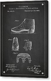 Stiffner For Boots And Shoes Patent Drawing From 1880 Acrylic Print