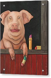 Still A Pig Acrylic Print