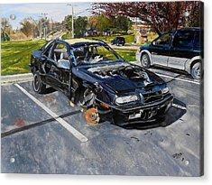 Still Life-1993 Chrysler Le Baron  Acrylic Print by Raymond Perez