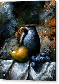 Still Life 24 Acrylic Print by Emerico Imre Toth