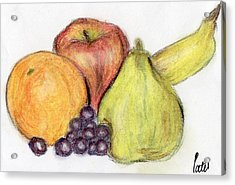 Still Life - Fruit Acrylic Print by Bav Patel