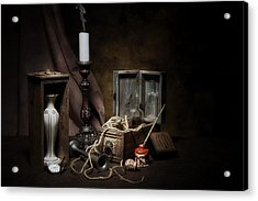 Still Life - General Vintage Items Acrylic Print by Tom Mc Nemar