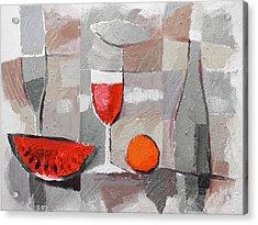 Still Life Grey Acrylic Print by Lutz Baar
