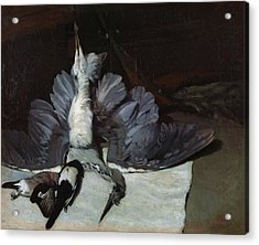 Still-life Heron With Spread Wings, 1867 Oil On Canvas Acrylic Print