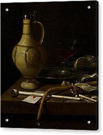 Still Life Acrylic Print by Jan Jansz van de Velde