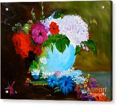Acrylic Print featuring the painting Still Life by Jenny Lee