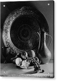 Still Life Of Armenian Plate And Other Acrylic Print by Joseph B. Wurtz