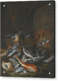 Still Life Of Assorted Fish Acrylic Print
