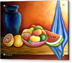 Still Life Of Fruits Acrylic Print