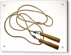 Still Life Of Jump Rope. Acrylic Print by Thinkstock