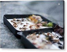 Still Life Of Trout Flies Acrylic Print