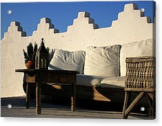 Still Life On A Roof Terrace Old Medina Tangier Morocco Acrylic Print by PIXELS  XPOSED Ralph A Ledergerber Photography