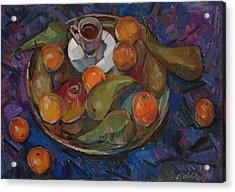 Still Life On A Tray Acrylic Print by Juliya Zhukova