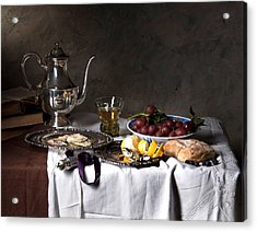 Acrylic Print featuring the photograph Little Breakfast Berkemeyer-oysters And Bread by Levin Rodriguez