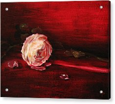 Still Life - Original Painting. Part Of A Diptych.  Acrylic Print by Tanya Byrd