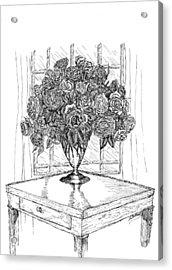 Still Life Roses Acrylic Print by Lee Halbrook
