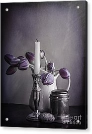 Still Life Study In Purple Acrylic Print by Terry Rowe