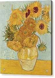 Still Life Sunflowers Acrylic Print by Vincent Van Gogh