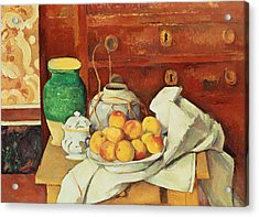 Still Life With A Chest Of Drawers Acrylic Print by Paul Cezanne