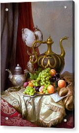 Still-life With A Glass Of Dutch Acrylic Print by Sevrukov